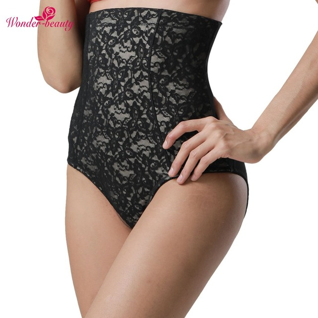 5223bd003d722 Firm Control Nude Lace Front High Waist Butt Lift Brief Tummy Control  Elastic Waistband Black Lace High Rise Shaping Briefs -E