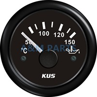 KUS Boat Engine Oil Temperature Gauge Marine Motor Oil Temp Gauge 50 150 52mm