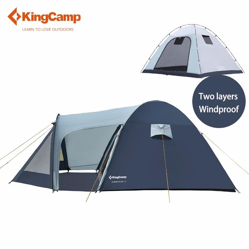 KingCamp Кемпинг Палатка Сверхлегкий большое пространство огнестойкие 3-местная палатка Водонепроницаемый 4 сезон Открытый Палатка Семья кемпинг carpa