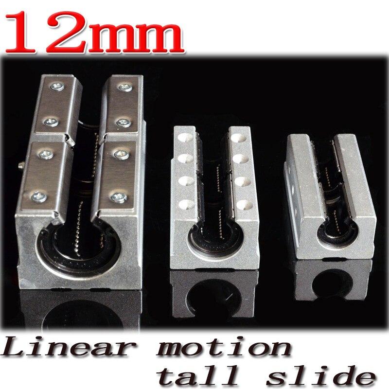 1pcs/lot SBR12LUU SBR12L 12mm linear ball bearing slide unit 12 mm linear bearing block Free Shipping scv25uu 25 mm linear motion ball bearing slide unit bushing
