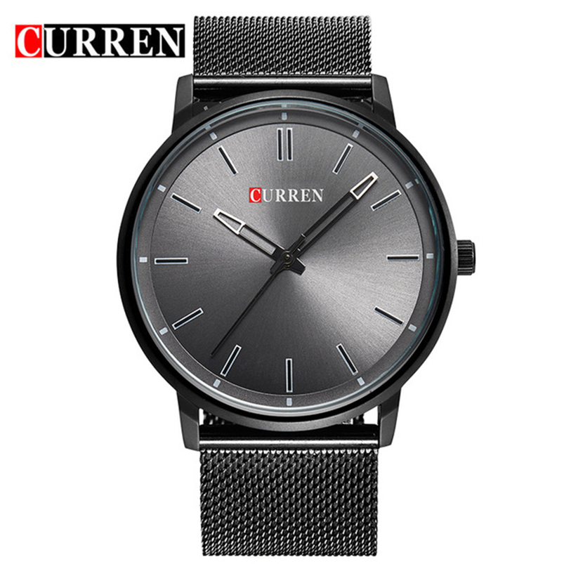 Top Luxury brand CURREN Watches men Stainless Steel Mesh strap Quartz-watch Thin Dial Clock man relogio masculino Dropship 8233 стоимость