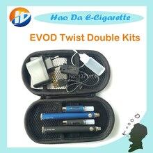 MT3 EVODบิดชุดคู่บุหรี่ไฟฟ้าEVOD MT3บุหรี่อิเล็กทรอนิกส์ชุดEVODบิดแบตเตอรี่บุหรี่อิเล็กทรอนิกส์eของเหลวเครื่องฉีดน้ำ