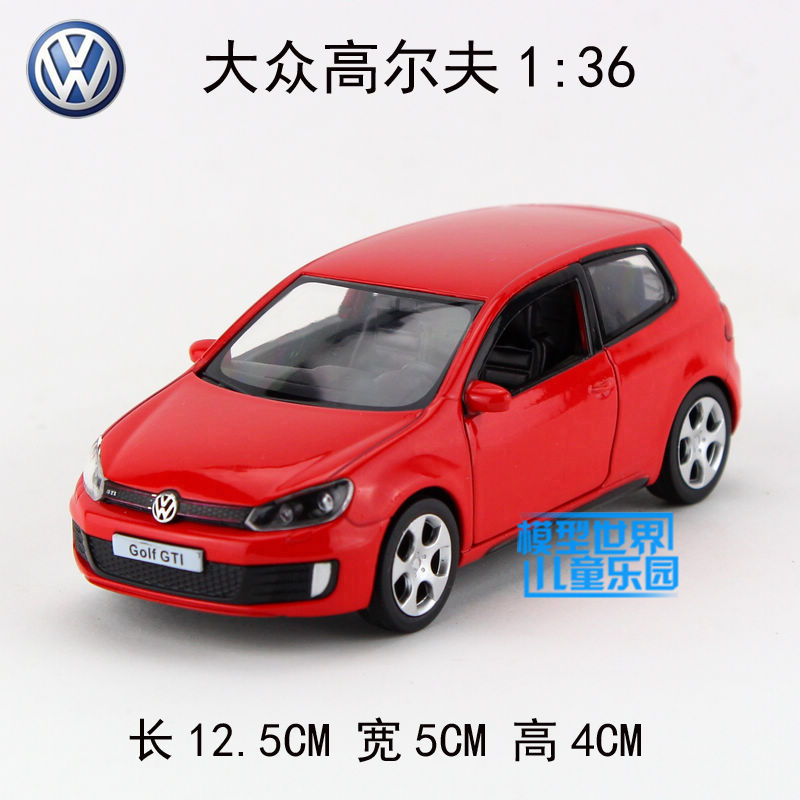 rmzcity 1 36 scale diecast car model simulation volkswagen golf gti educational pull back toy. Black Bedroom Furniture Sets. Home Design Ideas