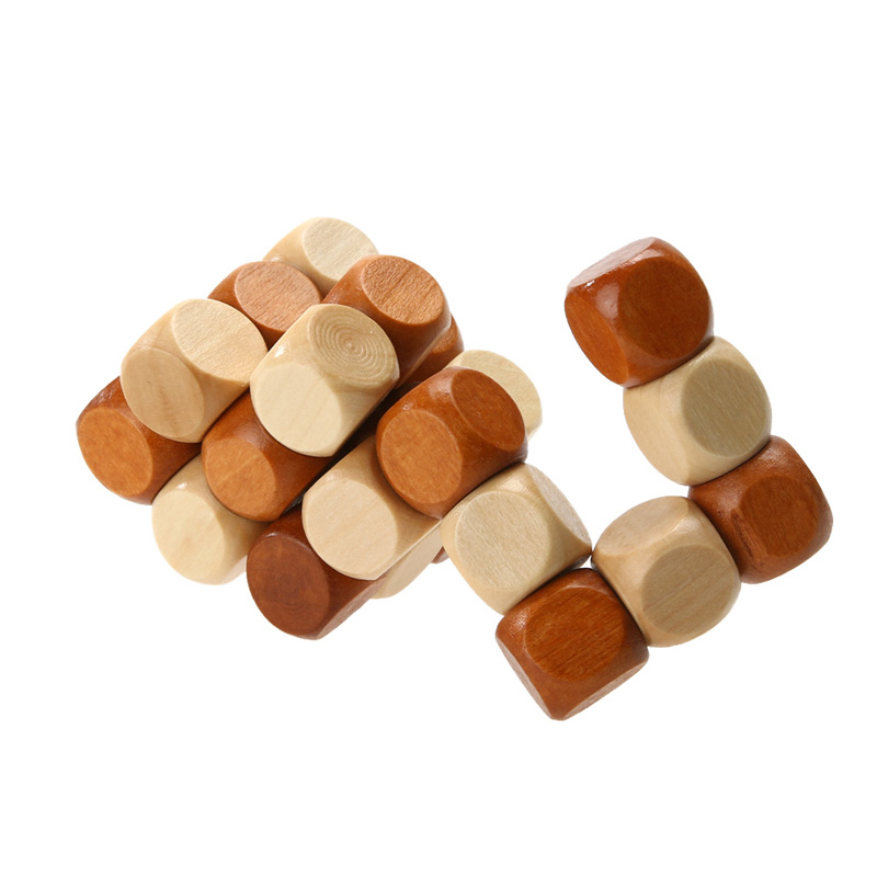 Wooden Dragon Tail Magic Cube Style Puzzle Toy Adult Children Intelligence Brain Teaser 3D Shaper Jigsaw