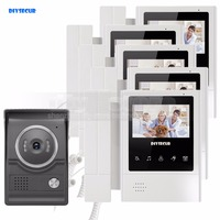 DIYSECUR 4.3inch Handheld Video Intercom Video Door Phone Door Bell 700TV Line Night Vision HD Camera for Home Office Factory