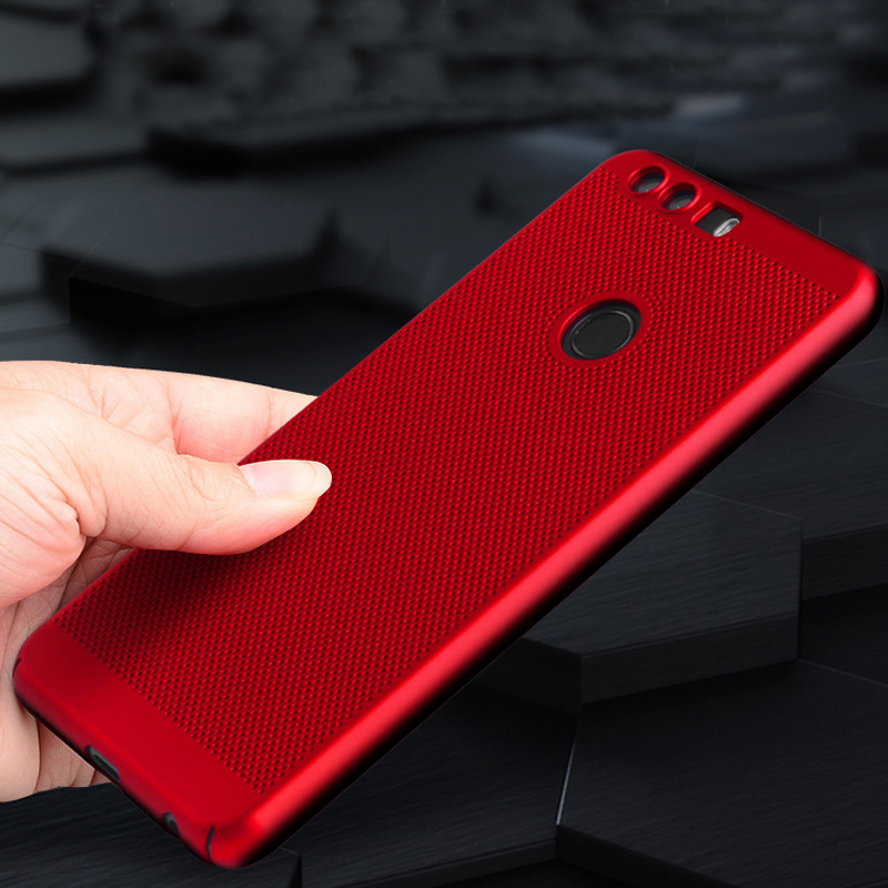 Тонкий из тонкой сетки прохладный проветрить Матовая Жесткий PC кожи чехол для Huawei Honor 8 V9 Nova случаях полная защита чехол телефона