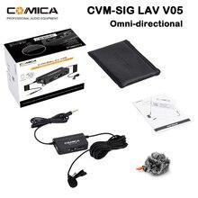 Comica CVM-SIG V05 микрофона одной петличный микрофон с плавным получить универсальный для iphone смартфона цифровой зеркальной камеры Canon Nikon камера