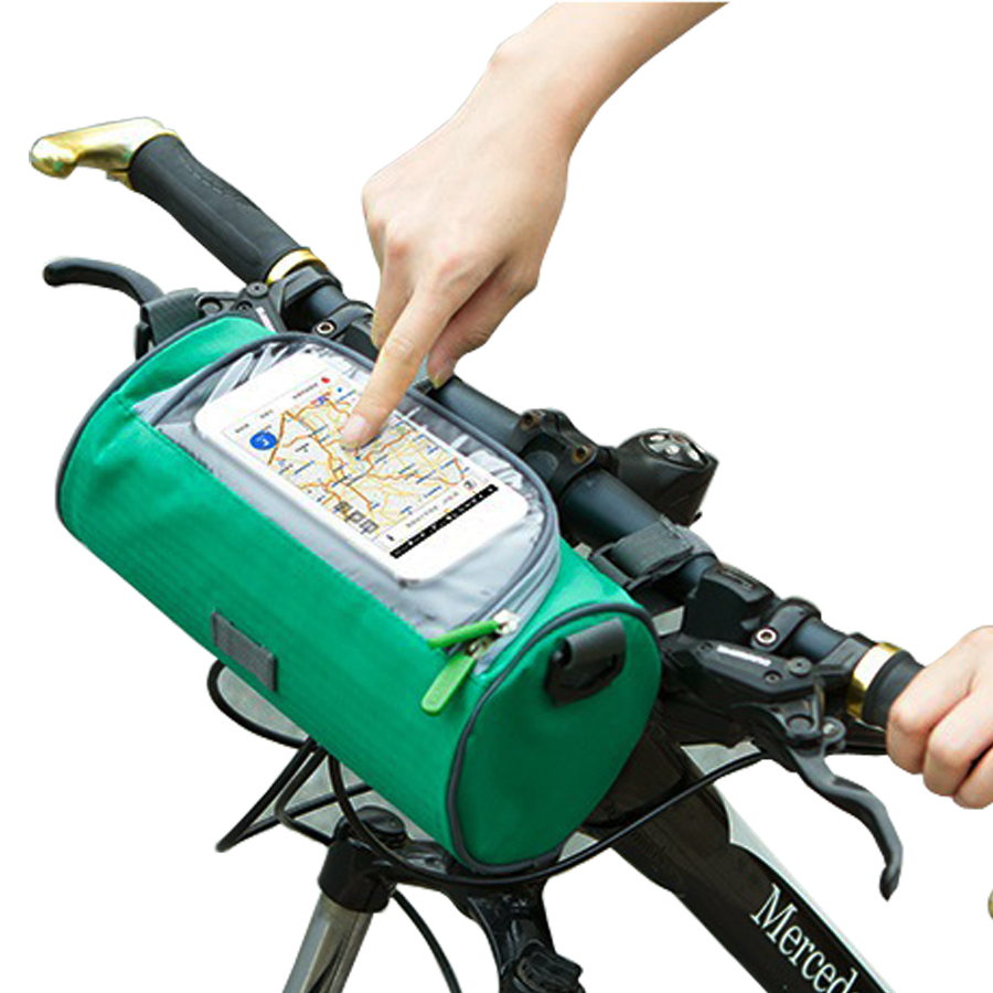 Large Bicycle Bags Handlebar Front Tube Waterproof Bike font b Phone b font Bag Touch screen