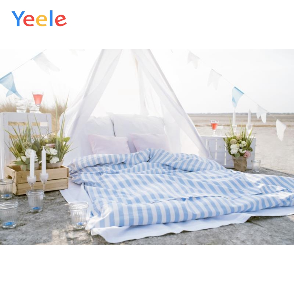 Yeele Balcony Bed Candle Curtain Portrait Photographic Backdrops Customized Photography Backgrounds Photocall Photo Studio