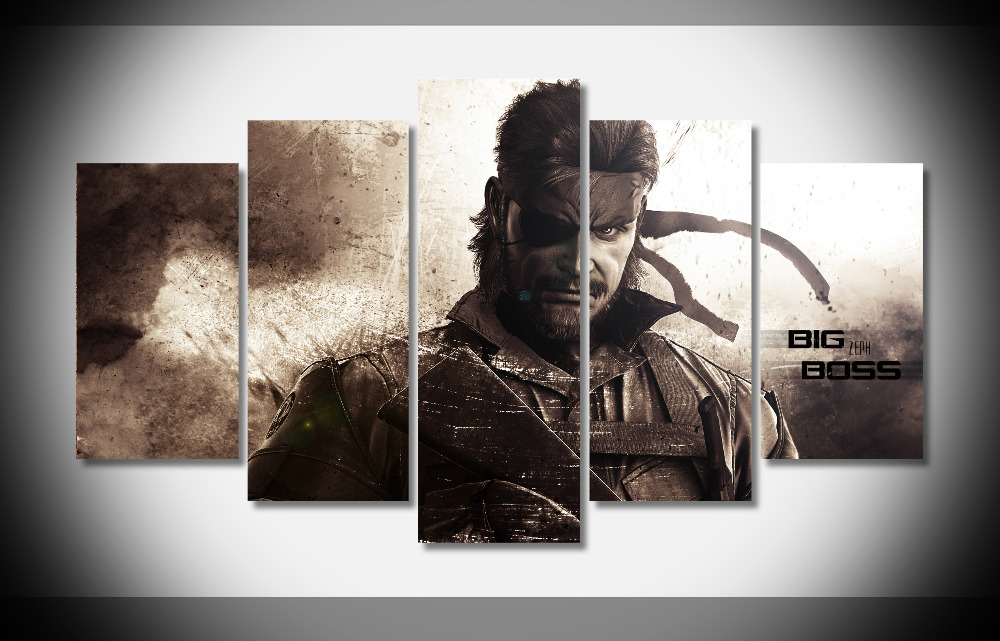 7126 19587 Metal Gear Solid Poster Framed Gallery Wrap Art Print