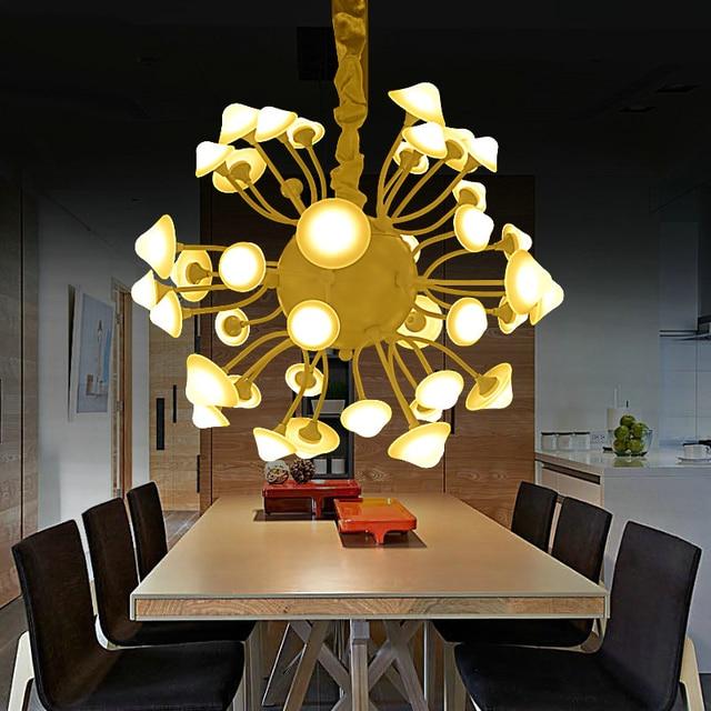 Modern Mushroom Artistic Chandelier 64w Minimalist Characterisic Dining Room Hanging Lighting Bedroom Pendent Light