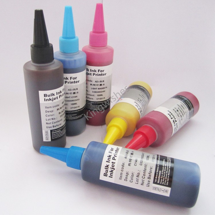 ФОТО Free Shipping 600ML Sublimation Ink For Epson Artisan 1430 6 Color Inkjet Printer