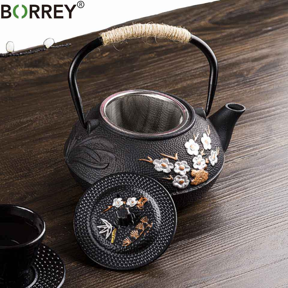 Borrey 800ml Anese Cast Iron Kettle