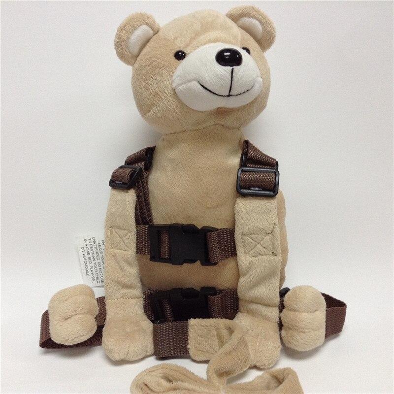 Приятель для того, чтобы держать 2-в-1 Детские накладной Рюкзак Детские поводья для От 1 до 3 лет вокруг - Цвет: Soft Bear