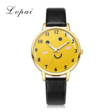 Lvpai Fashion Leather Watches Women Casual Watchband Bracelet Dress Quartz Watch Ladies Girls Cartoon Trendy Wristwatch Clock