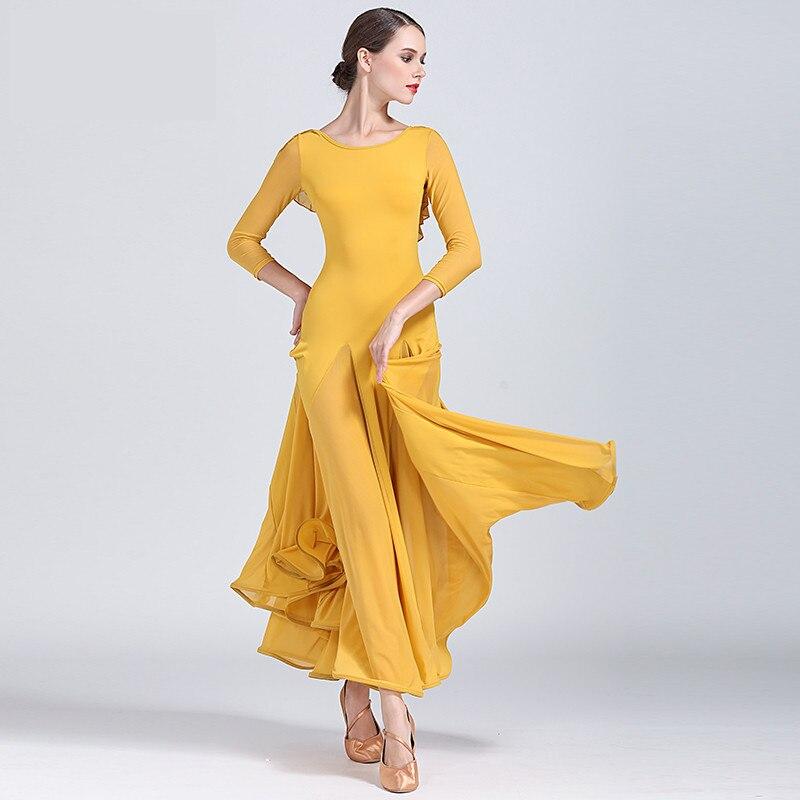 2020 Fashion sexy lady Ballroom Dance Competition Dresses Women Standard Ballroom Waltz Dress Waltz Tango Costume dresses