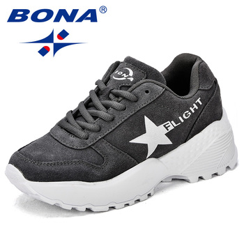 BONA New Classics Style Women Walking Shoes Lace Up Female Sport Shoes Outdoor Jogging Sneakers Comfortable Fast Free Shipping 1