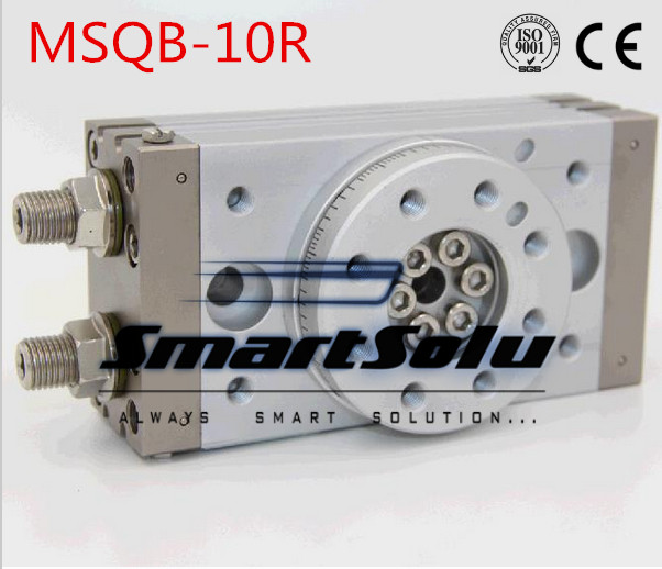 Free Shipping double acting air table actuator pneumatic rotary cylinder type MSQB-10R with internal shock absorber msqb 70 high quality double acting air rotary actuator pneumatic cylinder table msqb 70a msqb 70r
