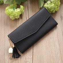 Womens Wallets and Purses Simple Long Tassel Coin Card Holders Handbag ladies wallet portafoglio donna monederos para mujer