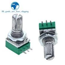 5pcs TZT B5K B10K B20K B50K B100K B500K Amplificador de Áudio Potenciômetro Selado 15 milímetros Eixo 3 pinos RK097N