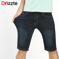 Drizzte Mens Plus Size High Stretch Lightweight Blue Denim Jeans Shorts For Men Ripped Jean Pants