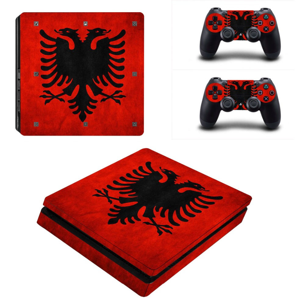 Newly Arrival For Playstation 4 PS4 Slim Console Game Decal Skin Stickers + 2 Pcs Stickers For PS4 Slim Controller