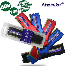 4 GB 2 GB 4G 2G DDR2 PC2-4200 PC2 5300 6400 800 MHz 533 MHz 667 MHz Biru merah Hitam Radiator untuk Memory Ram PC Desktop DIMM 240 Pin(China)