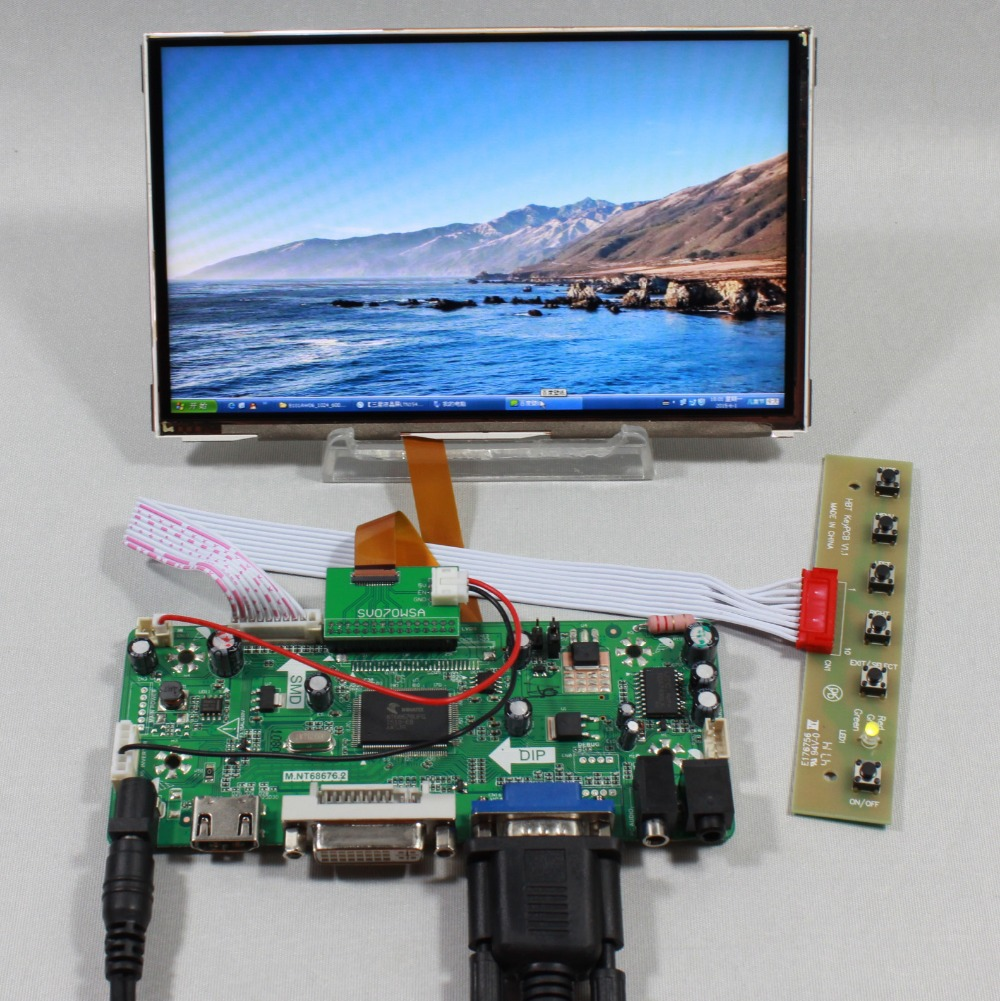 HDMI VGA DVI Audio lcd Controller board 7inch 1024X600 HV070WSA 100 ips lcd hdmi vga audio lcd controller board with 11 6inch 1920x1080 n116hse ips lcd screen