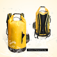 30L большой емкости водонепроницаемый рюкзак водонепроницаемая сумка мешок для хранения рафтинг спортивный рюкзак Каякинг каноэ плавание д...