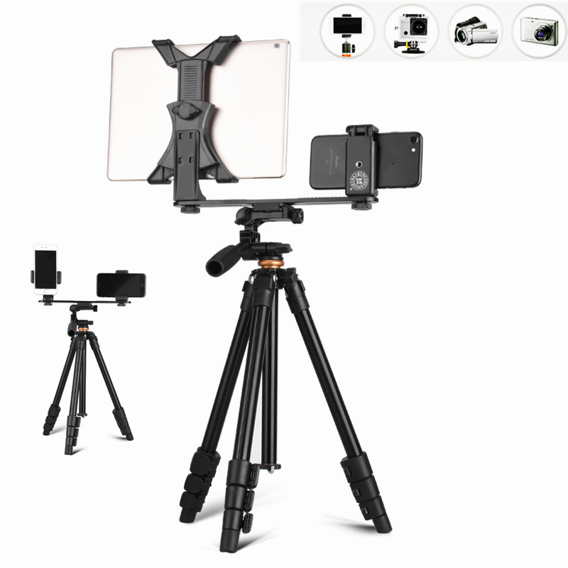 Flexible Smartphone trépied photographique pliant Selfie bâton caméra support vidéo cardan stabilisateur 360 pour Gopro caméscope titulaire