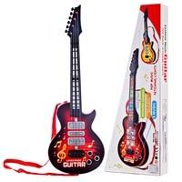 Brinquedo de guitarra elétrica divertida  guitarra elétrica de 4 cordas com instrumentos musicais  brinquedo educativo para crianças