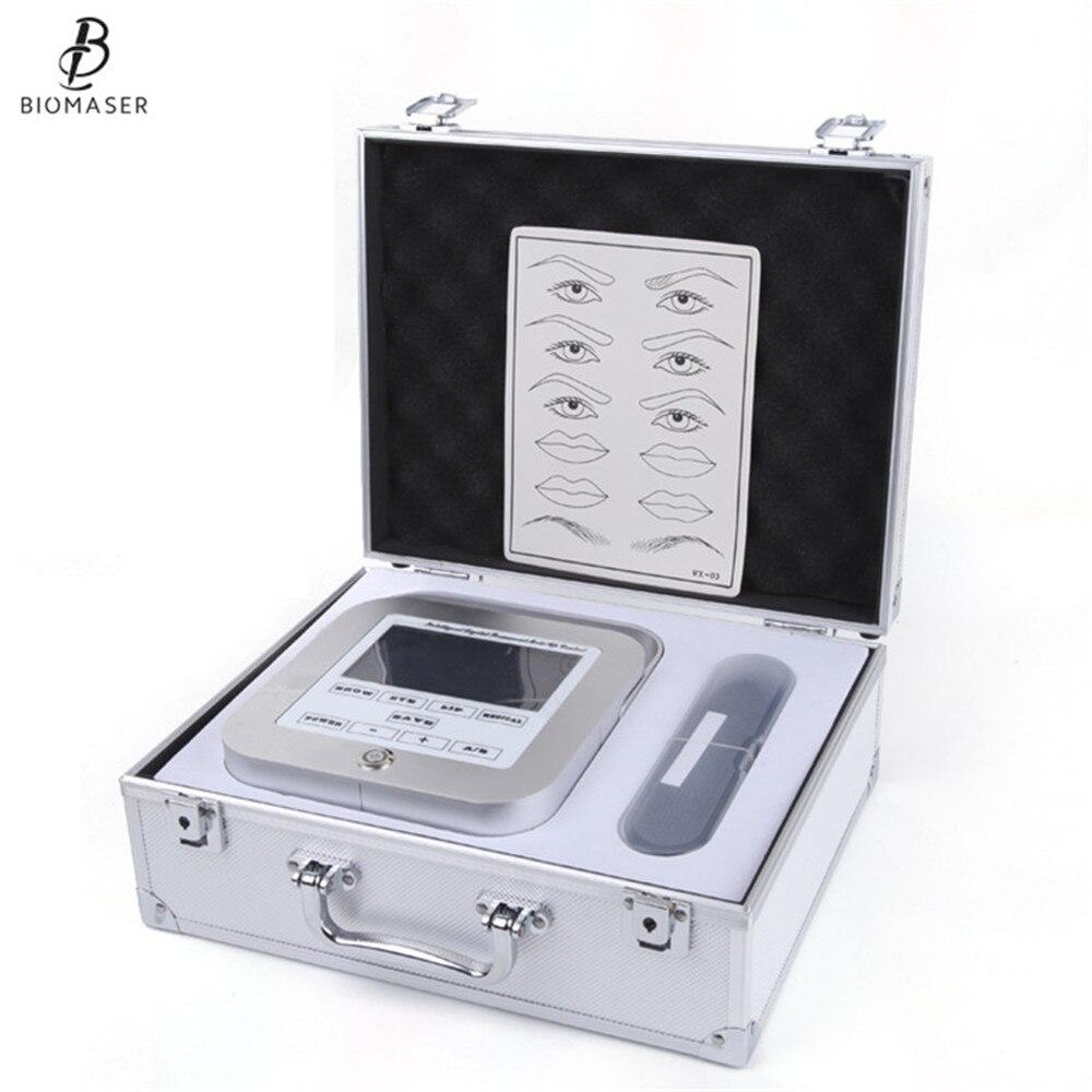 Biomaser Новый Перманентный макияж машина для бровей Татуировка Professional цифровое устройство машина для бровей Губы ручка машина наборы CTD003