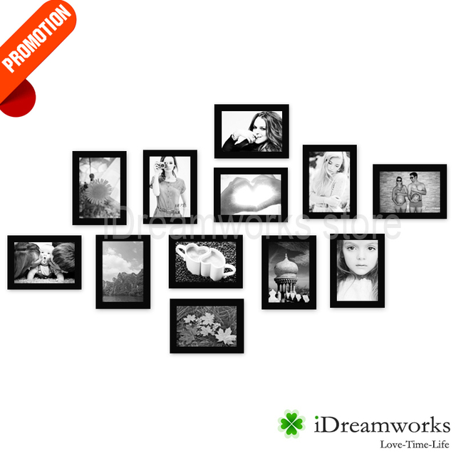 NEW YORK Array Black Wooden 12 Opening Collage Picture Frames for ...