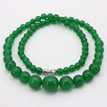 Green aventurine jade round bead 6-14mm necklace 18 inches DIY stone free shipping jewelry,send the same paragraph earrings