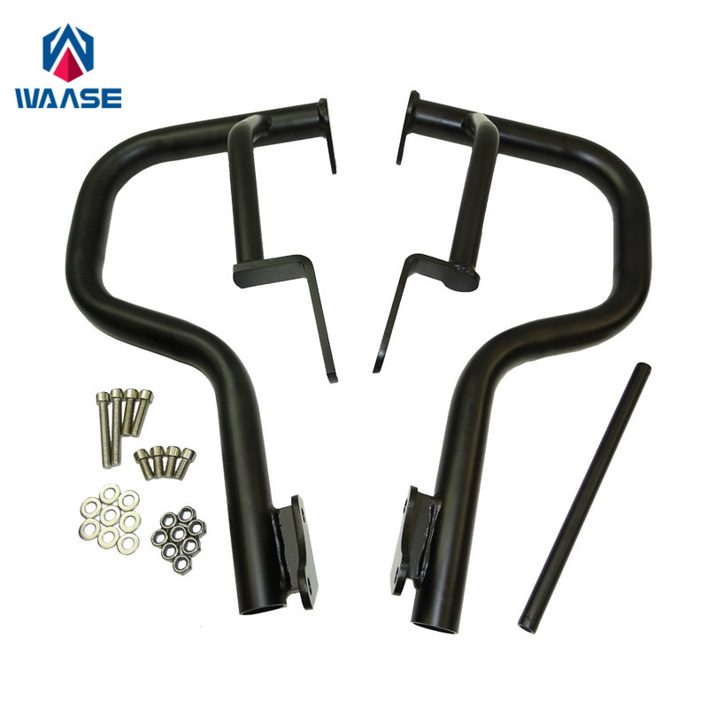 waase Motorcycle Engine Bumper Guard Crash Bars Protector Steel For KAWASAKI VN650 Vulcan S 650 EN650 2015 2016 2017 engine bumper guard crash bars protector steel for yamaha mt09 mt 09 fz07 fz 09 2014 2016 2014 2015 2016 motorcycle