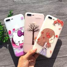32 estilos Animais Floral 3D Alívio Caso Olá Kitty Para o iphone X 8 Telefone Soft Case TPU Shell Para o iphone 7 6 s Plus 5S SE Tampa(China)