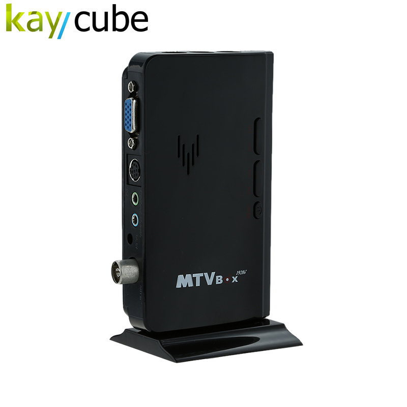 Portable HDTV HD LCD TV Box/ Analog TV Tuner Box / CRT Monitor Digital Computer TV Program Receiver + Remote Controller PIP