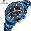 2018 hommes montres NAVIFORCE marque de luxe armée militaire Sport montre hommes en acier Quartz numérique analogique horloge Relogio Masculino