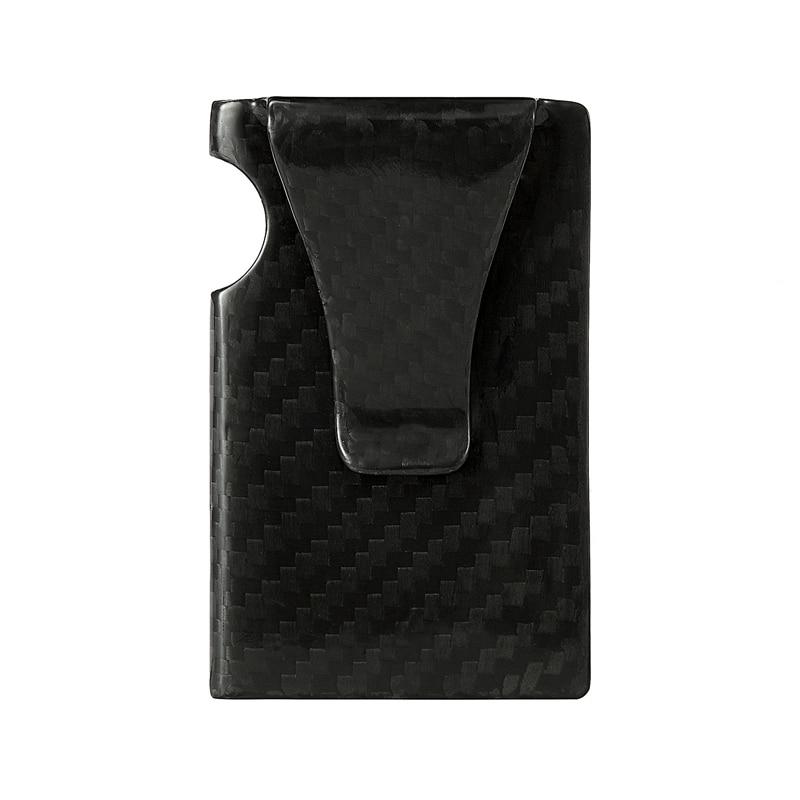 Carbon Fiber Card Holder för män RFID Minimalistisk Smart Wallet - Plånböcker - Foto 5