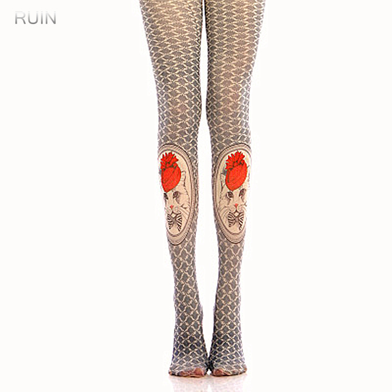 RUIN 2017 WINTER 17 WOMENS TIGHTS Classic geometric pattern pantyhose GIRL TIGHTS