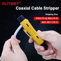 Dénudeur de câble Coaxial automatique OUTEST pour RG59 RG6 RG7 RG11 CAT5 CAT6 outils de dénudage fil vidéo Coaxial multifonctionnel