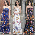 2017 RUIYIGE New arrival Women Summer dress Strapless Beach maxi dress Plus size Multicolor Long dress Milk silk ukraine Boho