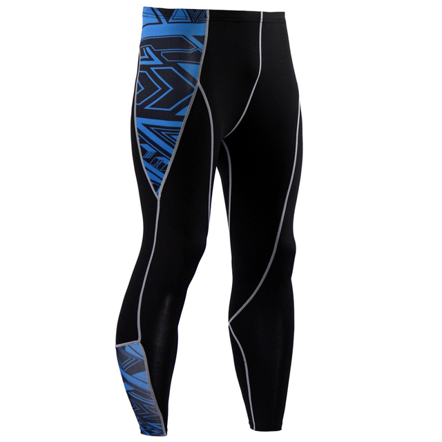 2017 New Fashion Mens Compression Pants 3D Print Quick Dry Skinny  Leggings Tights Fitness MMA Pants Stitching Tousers 4