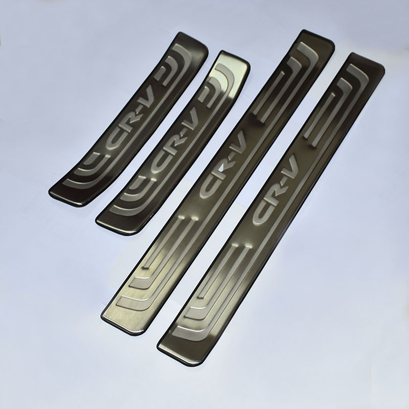 car styling Car Accessories 4PCS Stainless Steel Door Sill Plate Welcome Pedal For Honda CRV 2012 2013 2014 2015 2016 цены