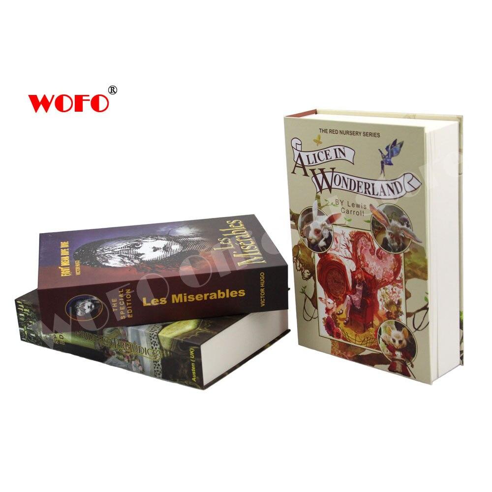 WOFO Movie Poster Secret Book Piggy Bank Money Hidden Secret Security Password Lock Cash Money Box 22*15.2*4.4 CM