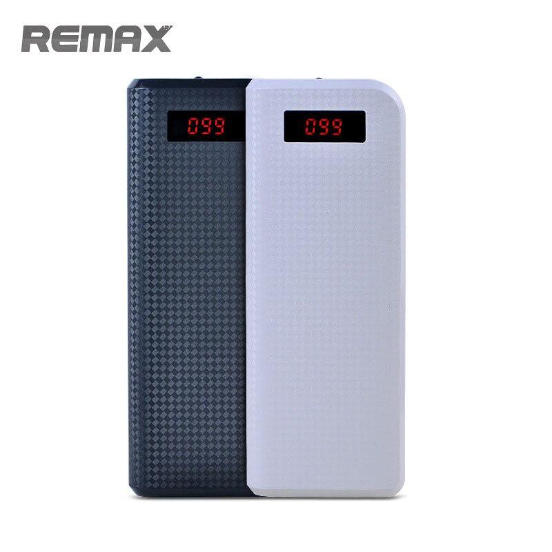 Remax 20000 mah Puissance Banque Portable Double USB Port de Sortie Affichage Numérique de Batterie Externe Powerbank pour l'iphone Samsung Xiaomi mi