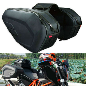2PCS Universal fit Motorcycle Pannier Bags Luggage Saddle Bags Side Storage Fork Travel Pouch Box, 36-58L