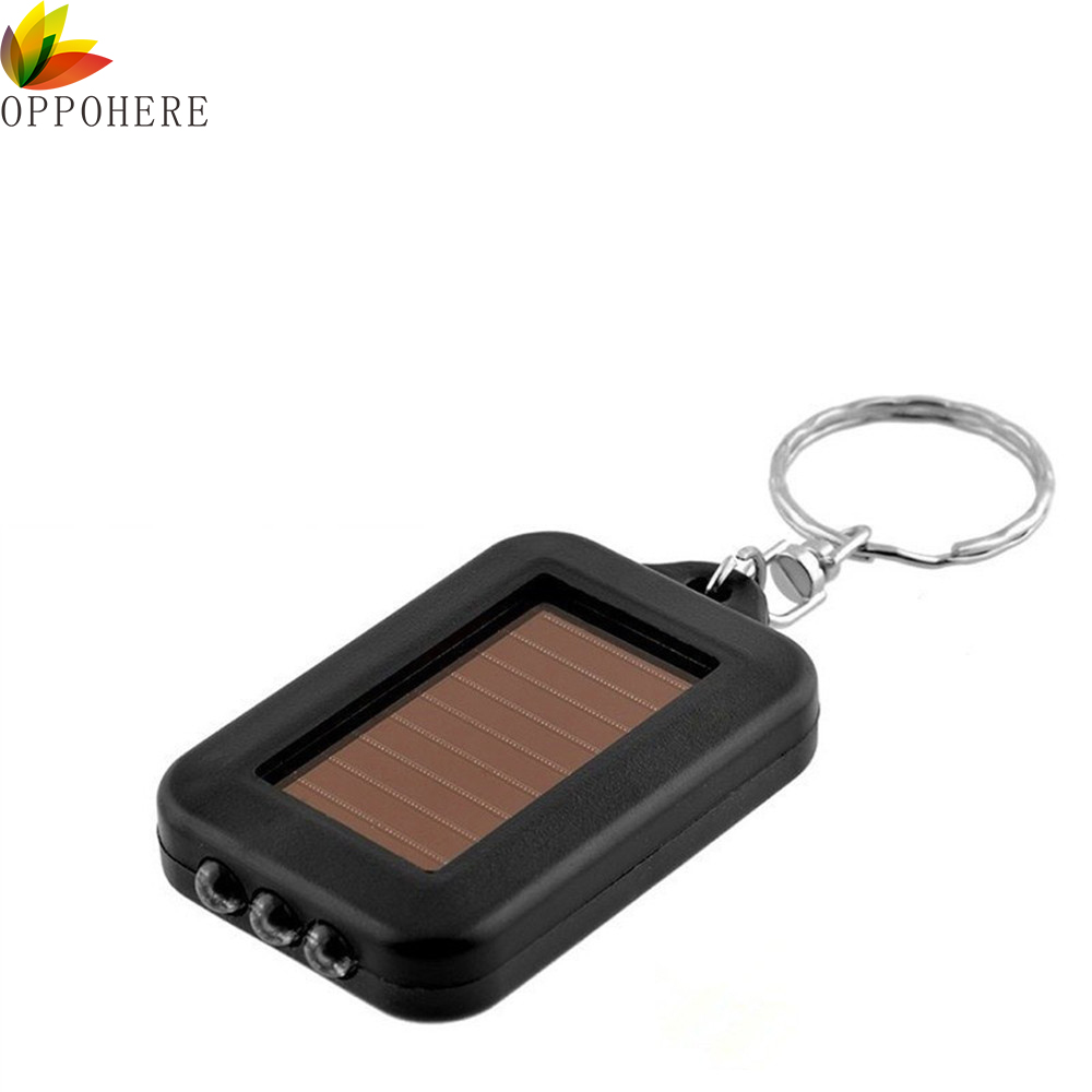 Flashlights & Torches Fddt 10x Mini Solar Power Rechargeable 3led Flashlight Keychain Light Torch Ring