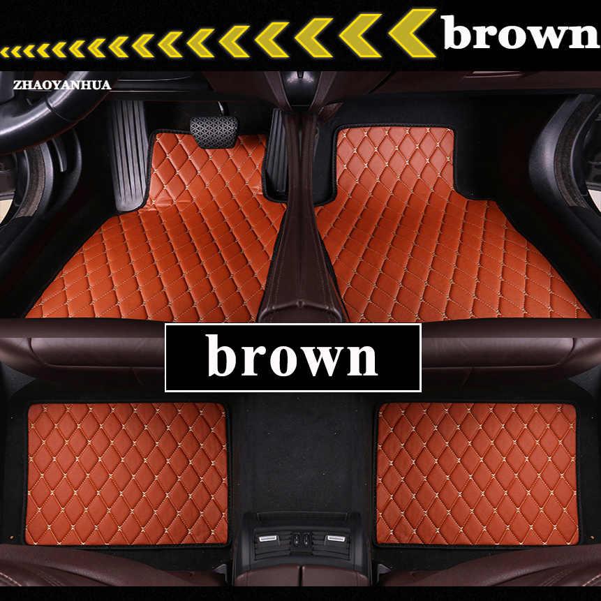 Car Floor Mats Universal for Toyota Corolla Camry Rav4 Auris Prius Yalis Avensis SUV Car Leather waterproof floor mats carpet