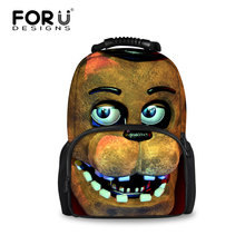 FORUDESIGNS Five Nights at Freddys Backpacks Children Cartoon Printing School Backpack for Teenagers Boys Men's Bag Kids Mochila